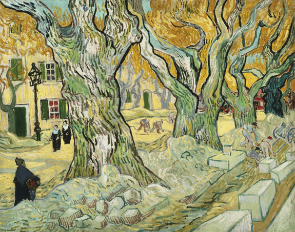 The Road Menders, by Vincent van Gogh, 1889