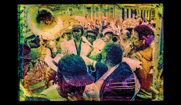 The Sound of Our Resurrection Is Stronger Than the Silence of Death is what McCormick and Calhoun call their picture of A Chosen Few Brass Band, photographed in the city's Treme neighborhood in the 1980s.