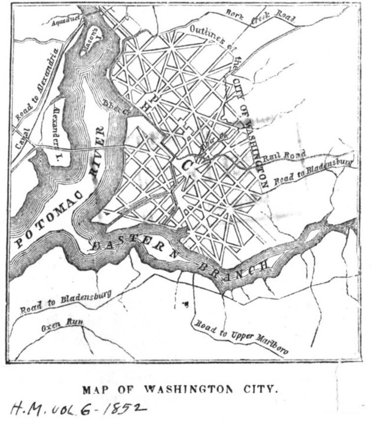 Map from Harper's Magazine, 1852