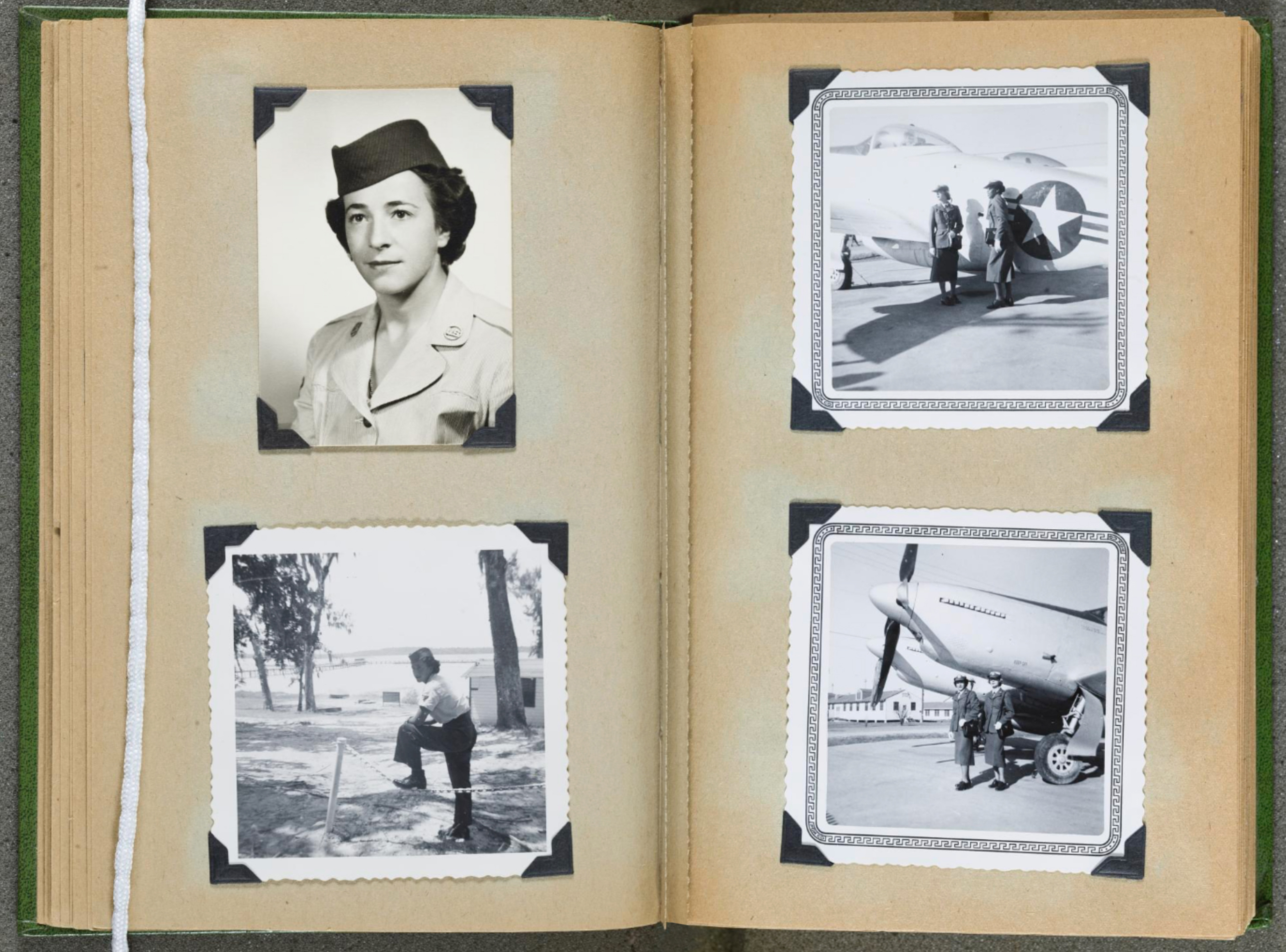 Helen James brought her photo album from her military days to the National Air and Space Museum.