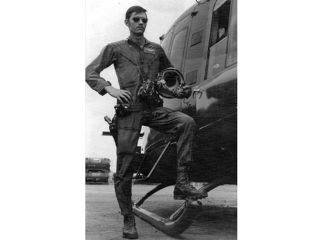 Photographer Michael Felitti in Saigon, 1970