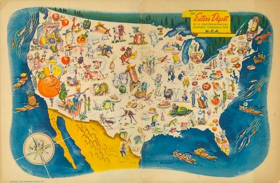 This 1945 menu puts Ohio in the heart of it all.