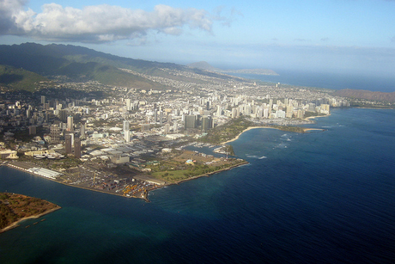 Honolulu lies in the region that will be most affected by sea-level rise.