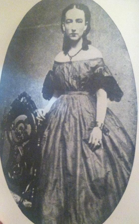 Ida Mayfield Wood in the 1860s