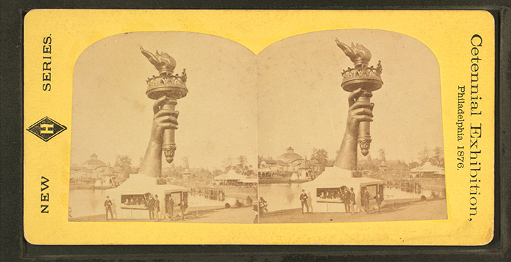 Statue of Liberty hand and torch 1876