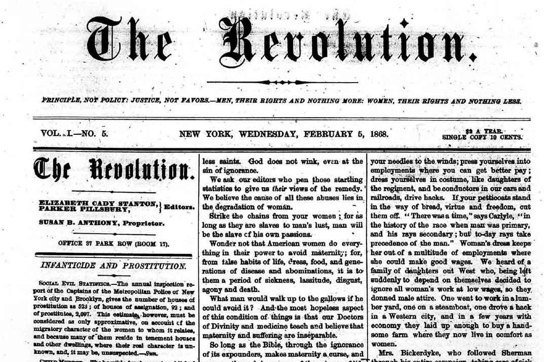 The Revolution, detail, Feb. 5, 1868