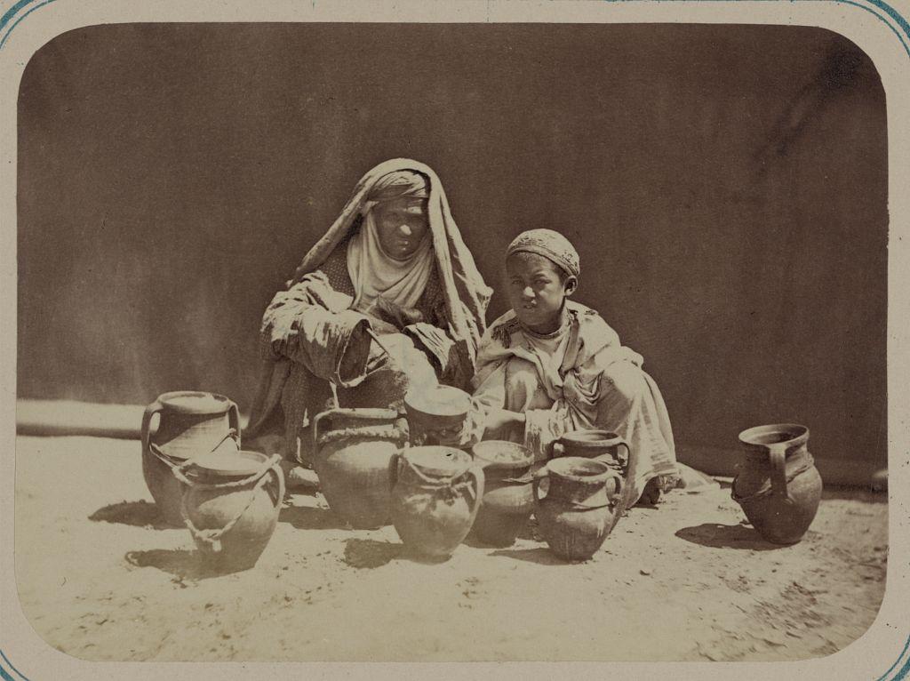 A woman and a boy in Turkestan