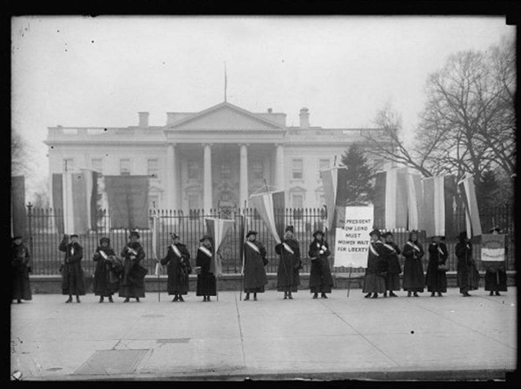 Suffragists picketing