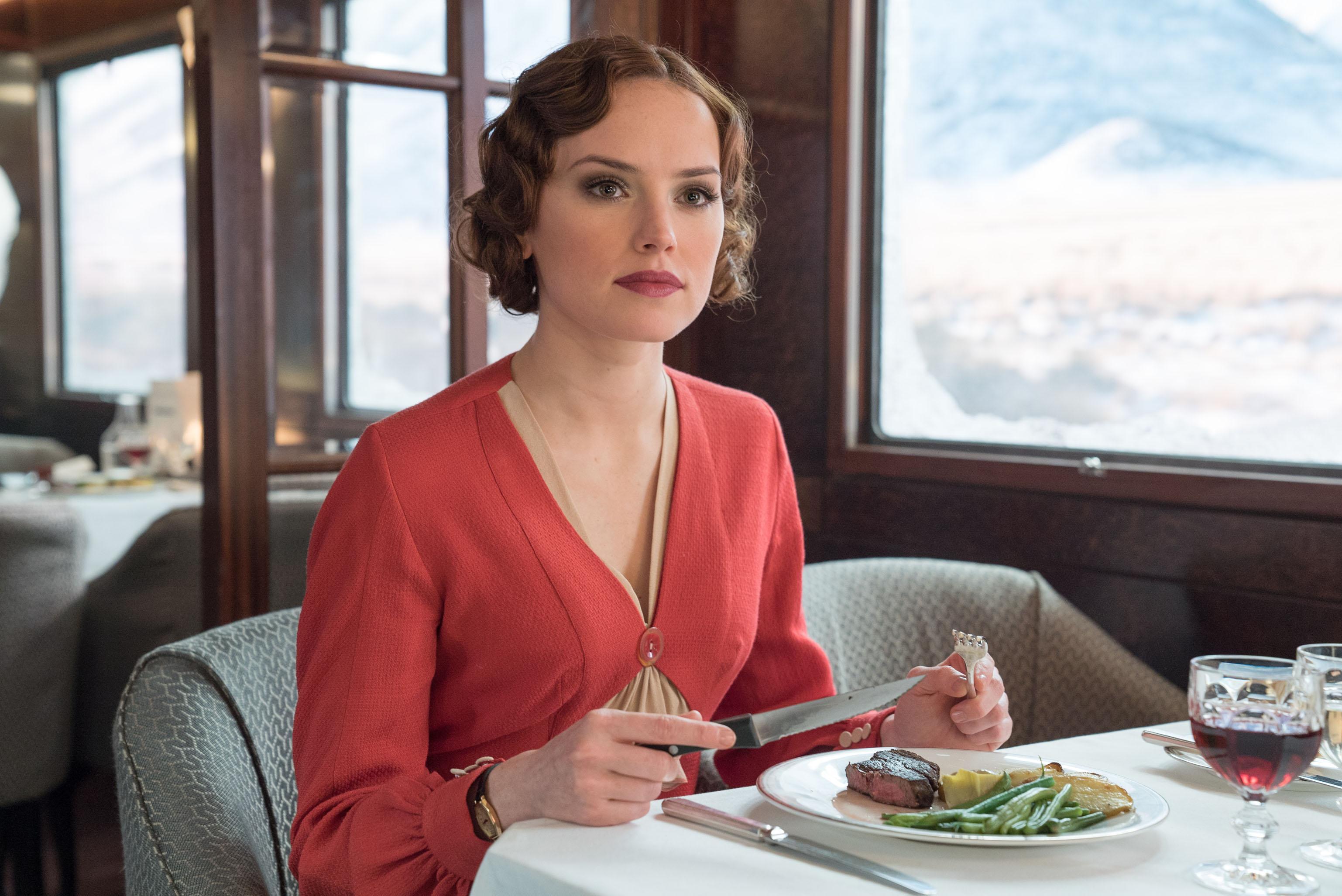 """Daisy Ridley stars in Twentieth Century Fox's """"Murder on the Orient Express."""""""