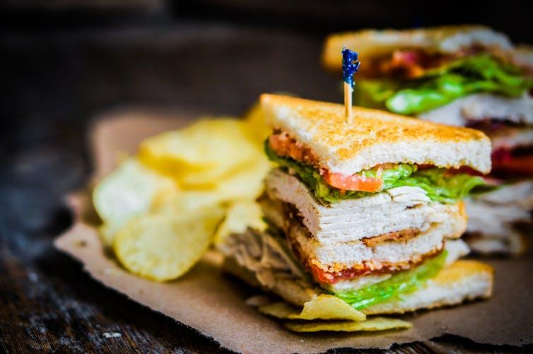 The club sandwich: A perfect blend of elegance and blandness.