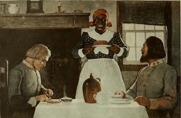 Depiction of Aunt Jemima, 1920, in the Saturday Evening Post