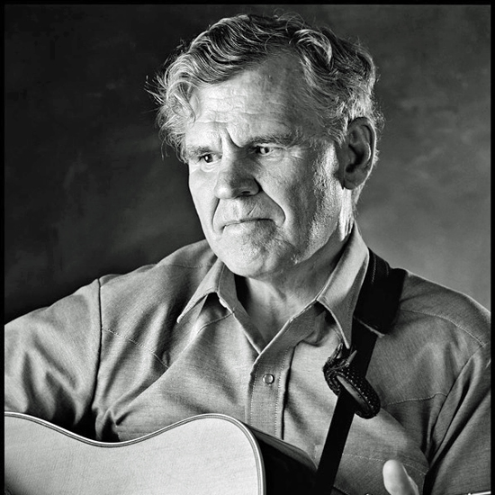 Doc Watson backstage at McCabe's Guitar Shop, Santa Monica, Ca. 1986. Photo by Peter Figen.