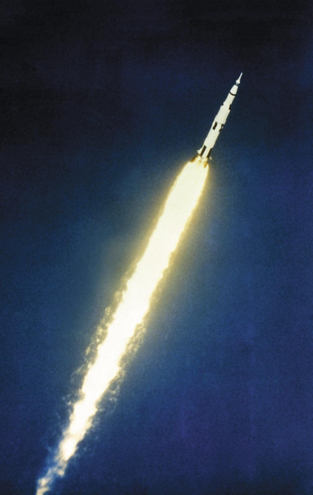 First flight of the Saturn V