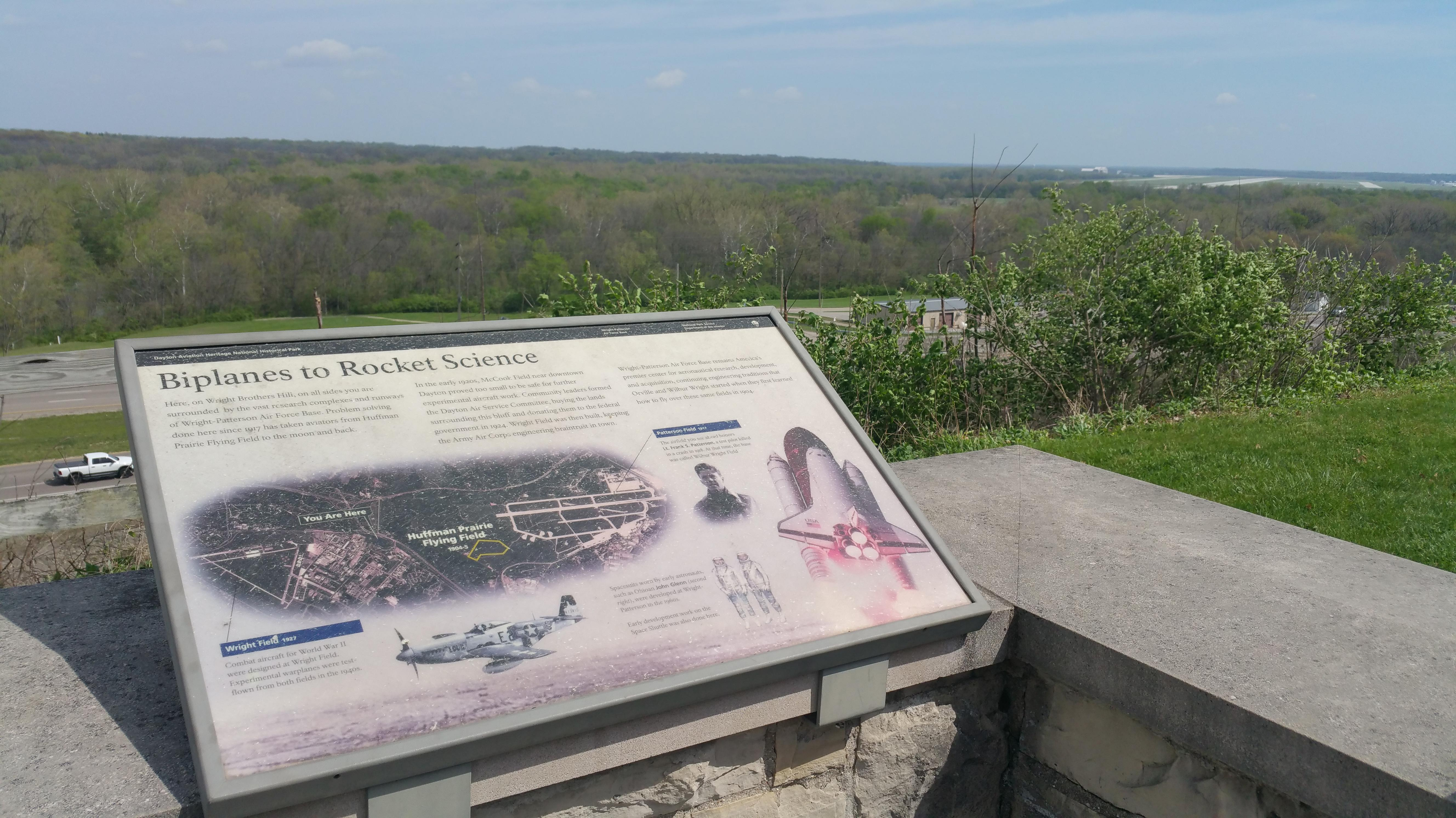 From the field's overlook, one can almost see the spot where the brothers tested their designs.
