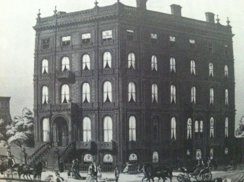 Madame Restell's residence, on the northeast corner of 5th Avenue and 52nd Street.