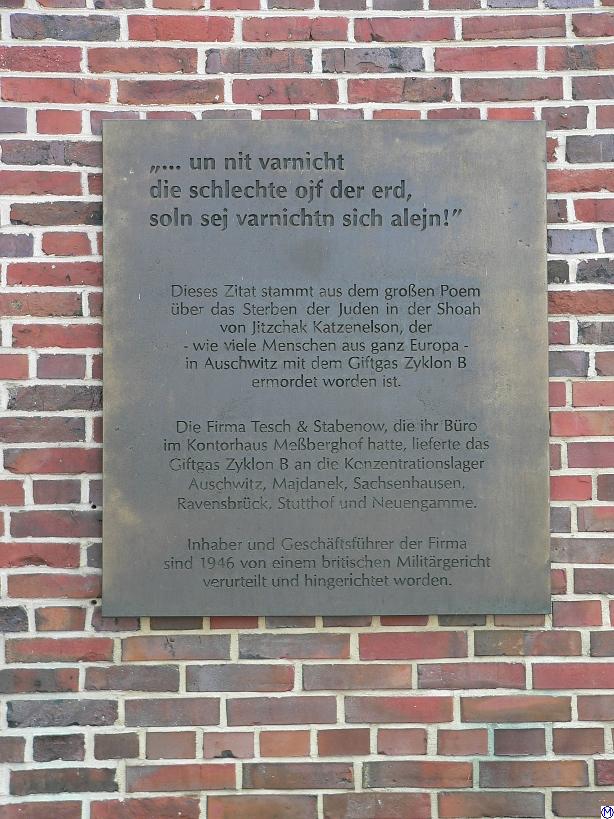 Memorial plate at the Messberghof