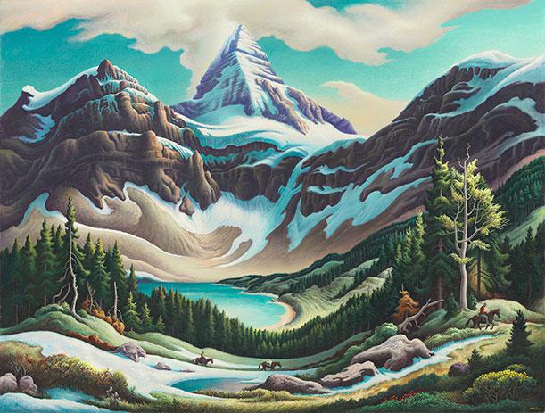 Trail Riders (1964-65), by Thomas Hart Benton