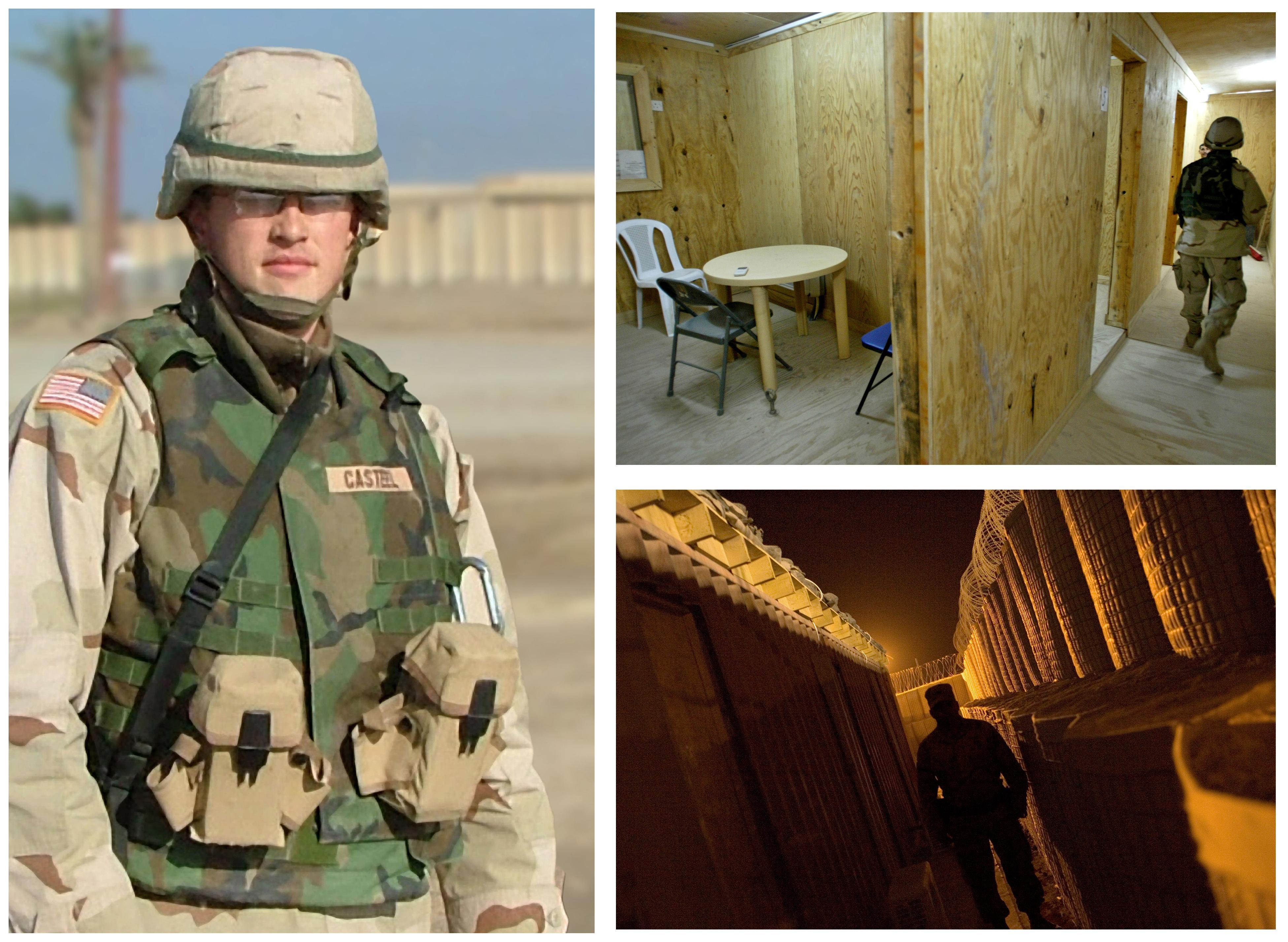 casteel in Iraq collage