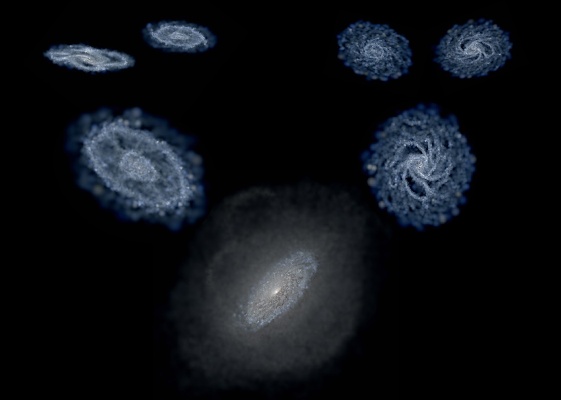 """A hierarchical picture of galaxy formation through """"galaxy cannibalism."""""""