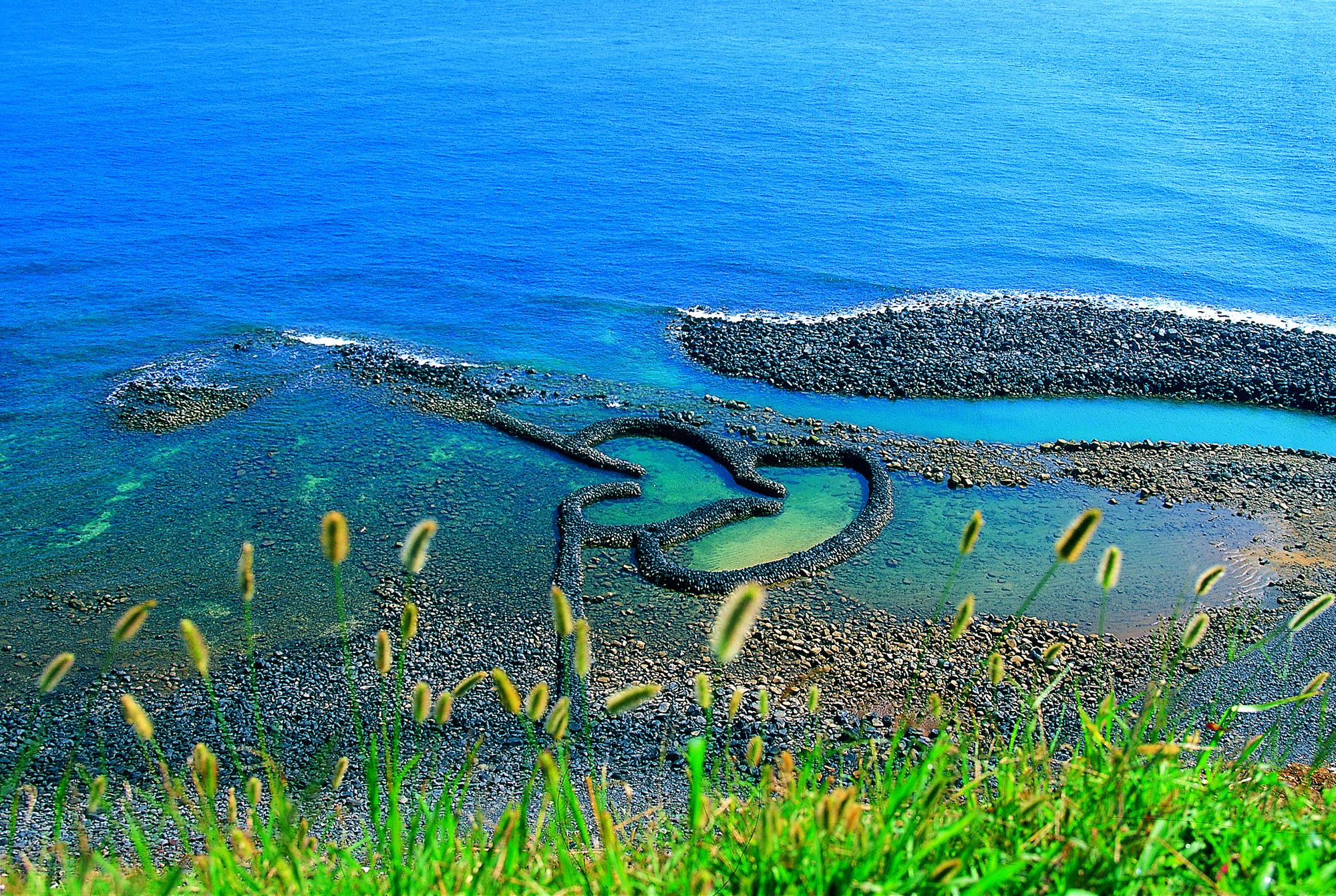 Qimei Island - Penghu - Twin Hearts Stone Weir