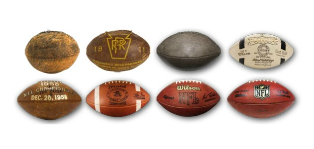 The evolution of the football, 1894-2012