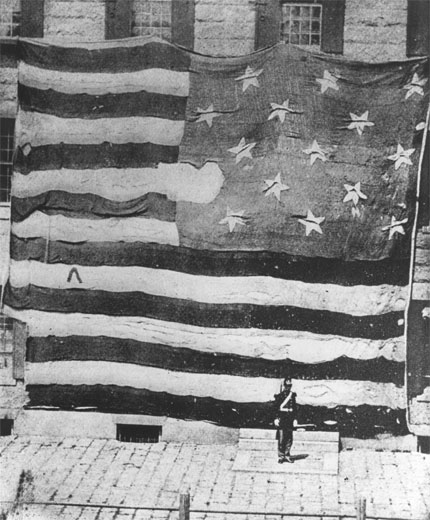 The Star Spangled Banner that flew over Fort McHenry - Independence Day