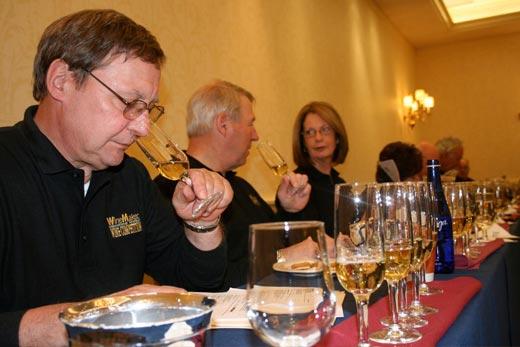 judges at the wine tasting