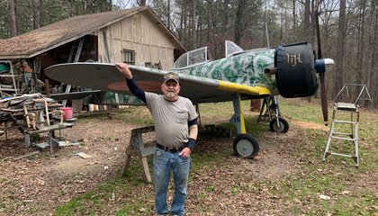 This Rare Replica Warbird Is Made From Pizza Pans and Lawnmower Parts